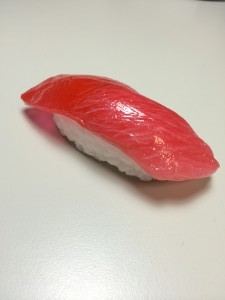 Photograph of sushi purchased at the market TK in Japan from @beansoil