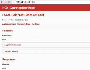 User root does not exist