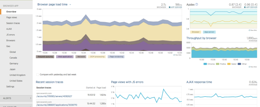 ScreenShot_New Relic Browser with JS and AJAX