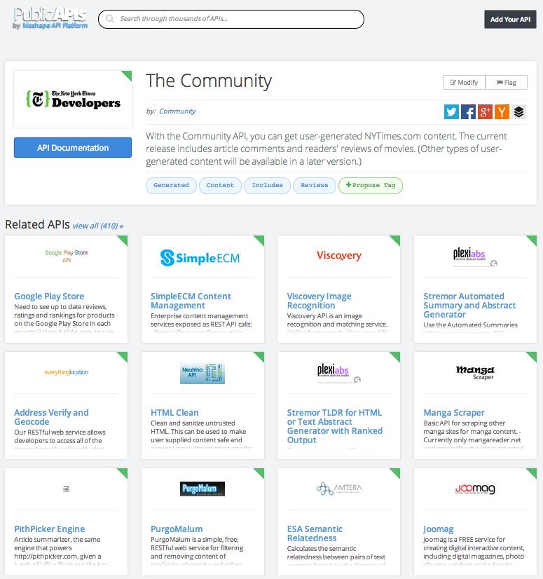 The_Community_API_Documentation_and_Status