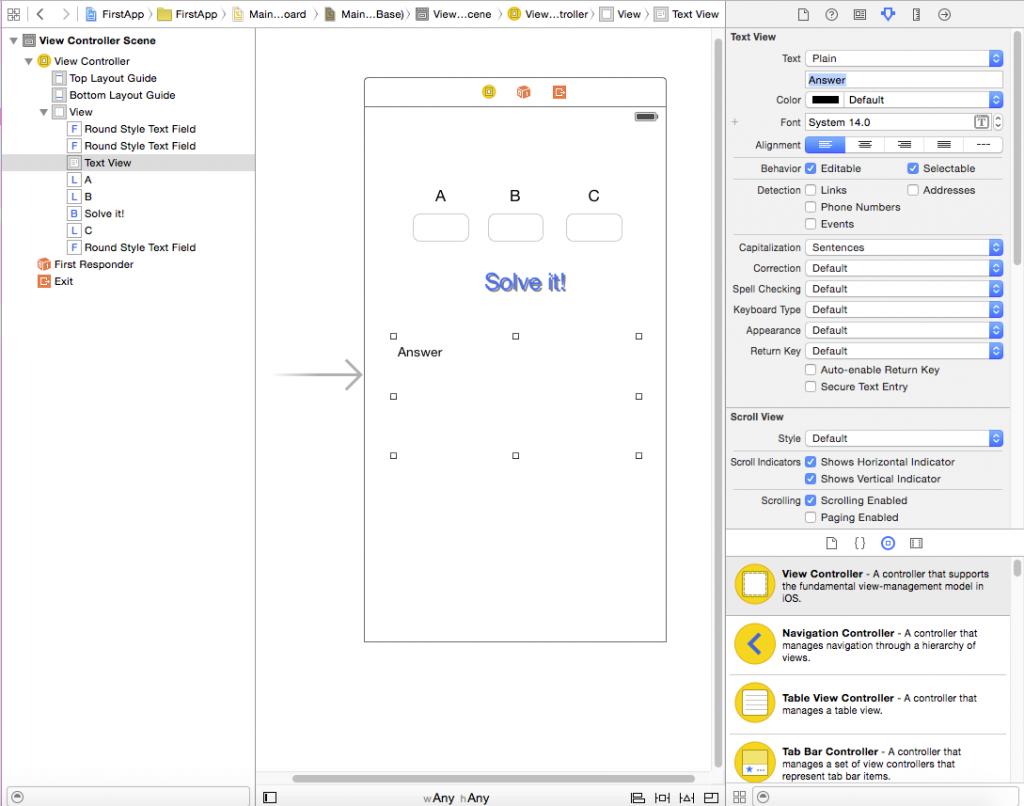 Xcode storyboard designer