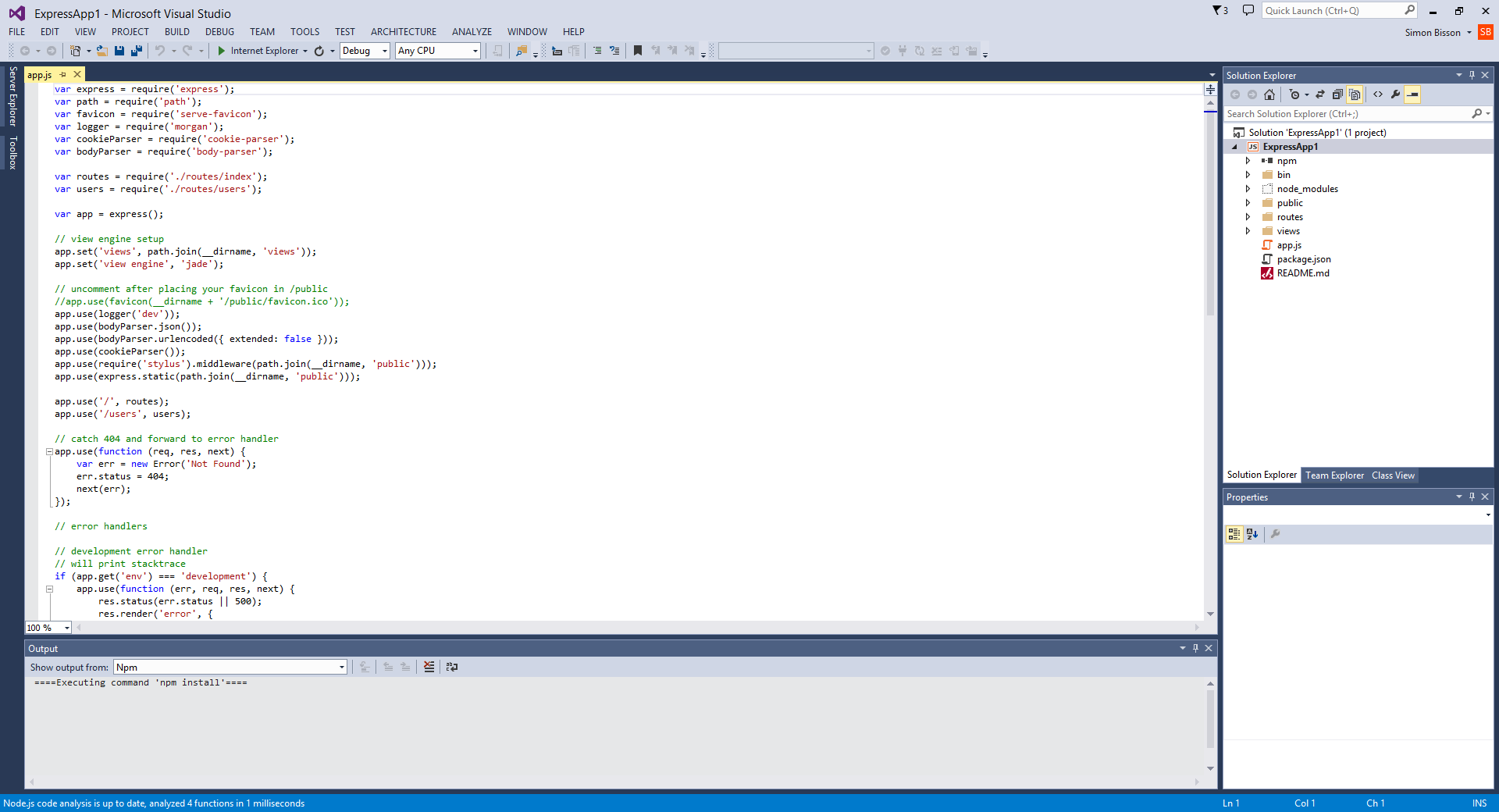 Node js Add-On Tooling for Visual Studio - The New Stack