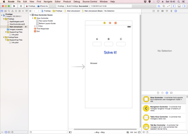 Xcode Layout editor