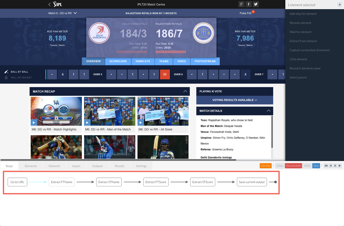 Tracking Live Cricket Scores with Arduino and the Parse IoT