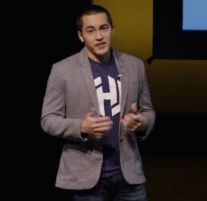 HashiCorp CEO Mitchell Hashimoto addressing HashiConf 2015