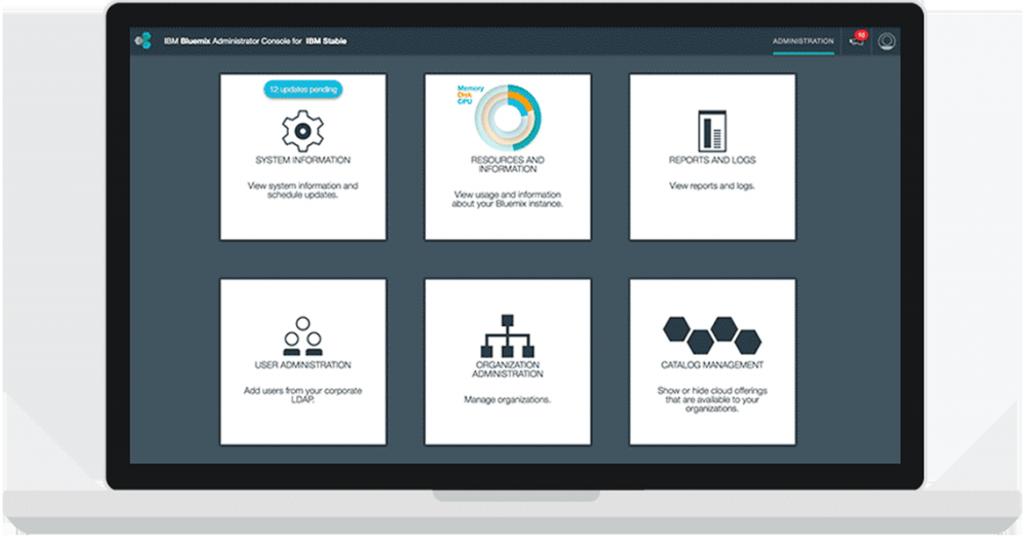 IBM Bluemix Local administrative console