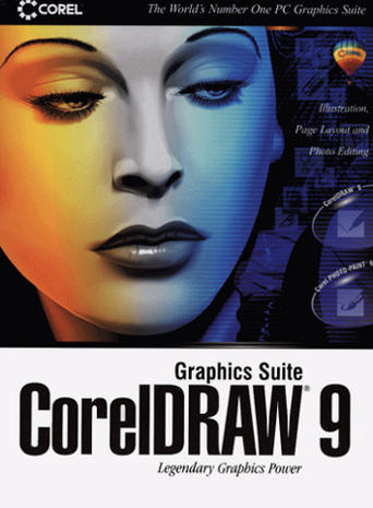 Heddy Lamarr on the box of Corel Draw 9