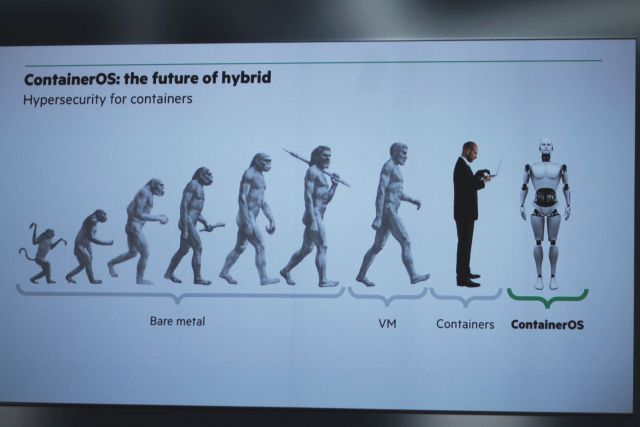HPE ContainerOS on the evolutionary scale.