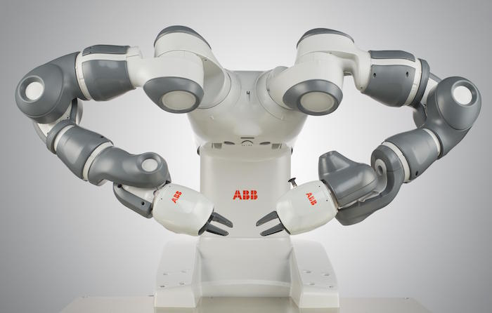 YuMi, a collaborative robot by ABB Robotics.