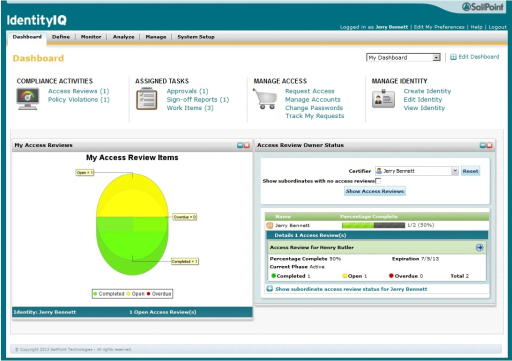 SailPoint IdentityIQ Access Reviews