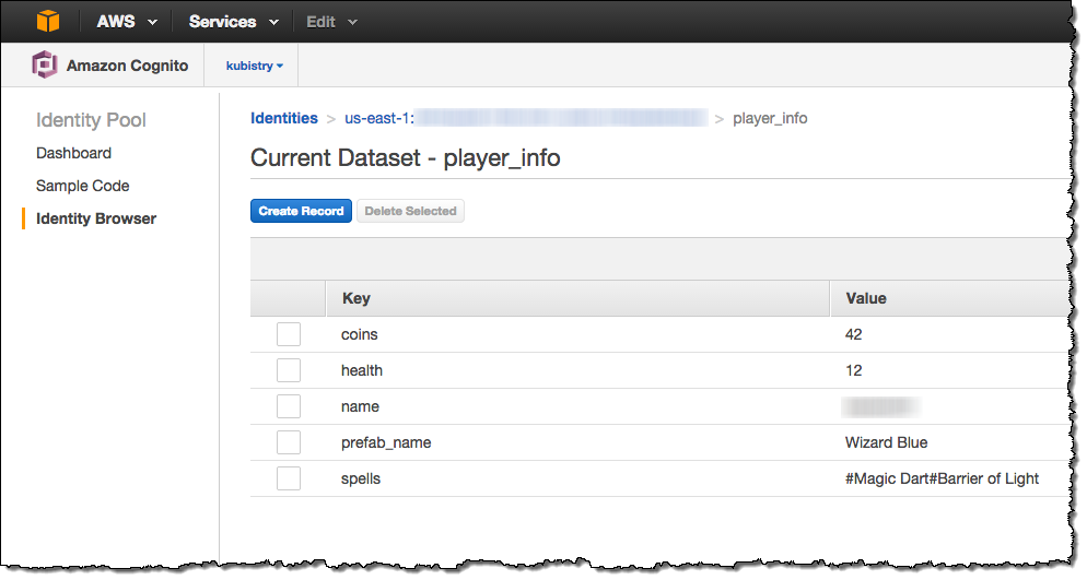 AWS Cognito User Data