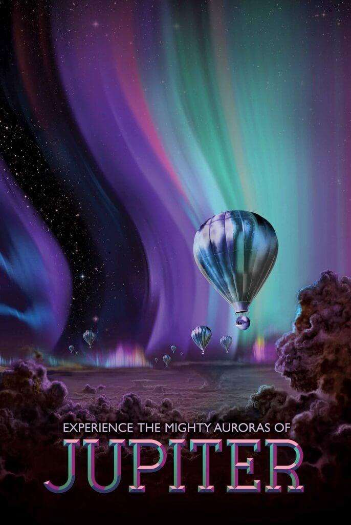 NASA JPL Jupiter travel poster