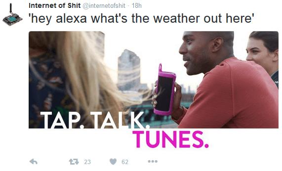 InternetOfSht mocks Alexa