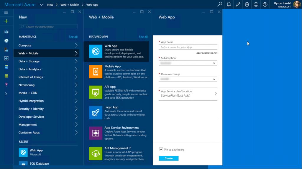 Microsoft Azure: Web App Creation