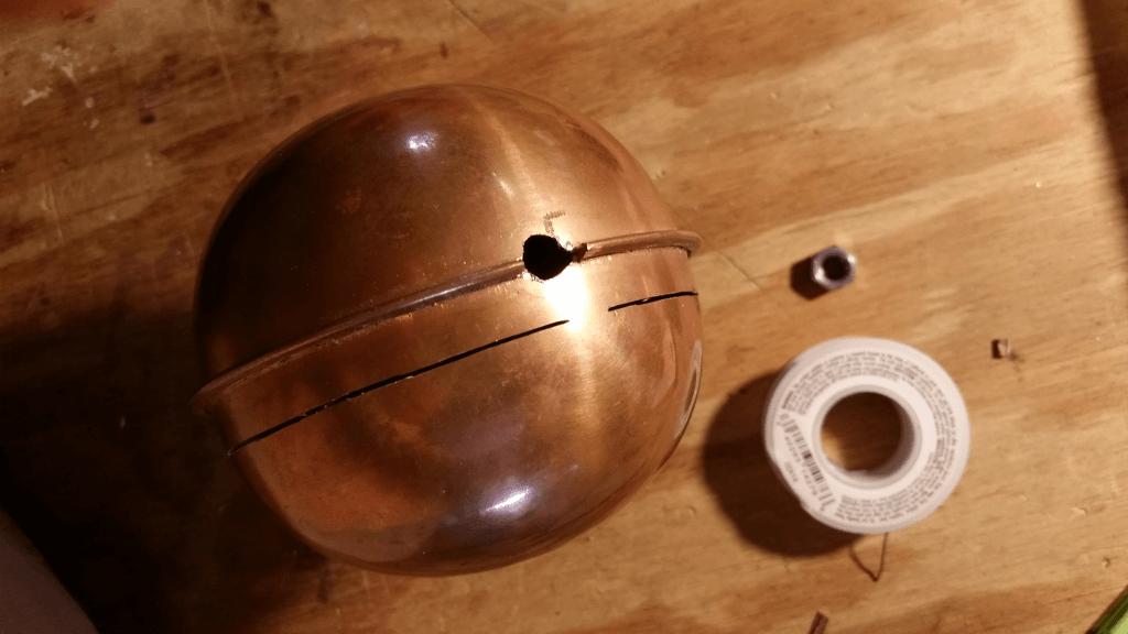 Modded copper sphere