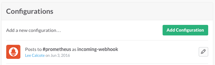 Slack Incoming Webhook for Prometheus AlertManager
