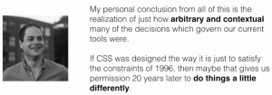 Conclusion of languages that were almost CSS