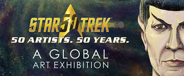 50 artists 50 years - Spock on exhibit banner