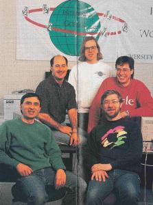 University of Minnesota alumni magazine photo of the original Gopher team (1994) - via MinnPost.com