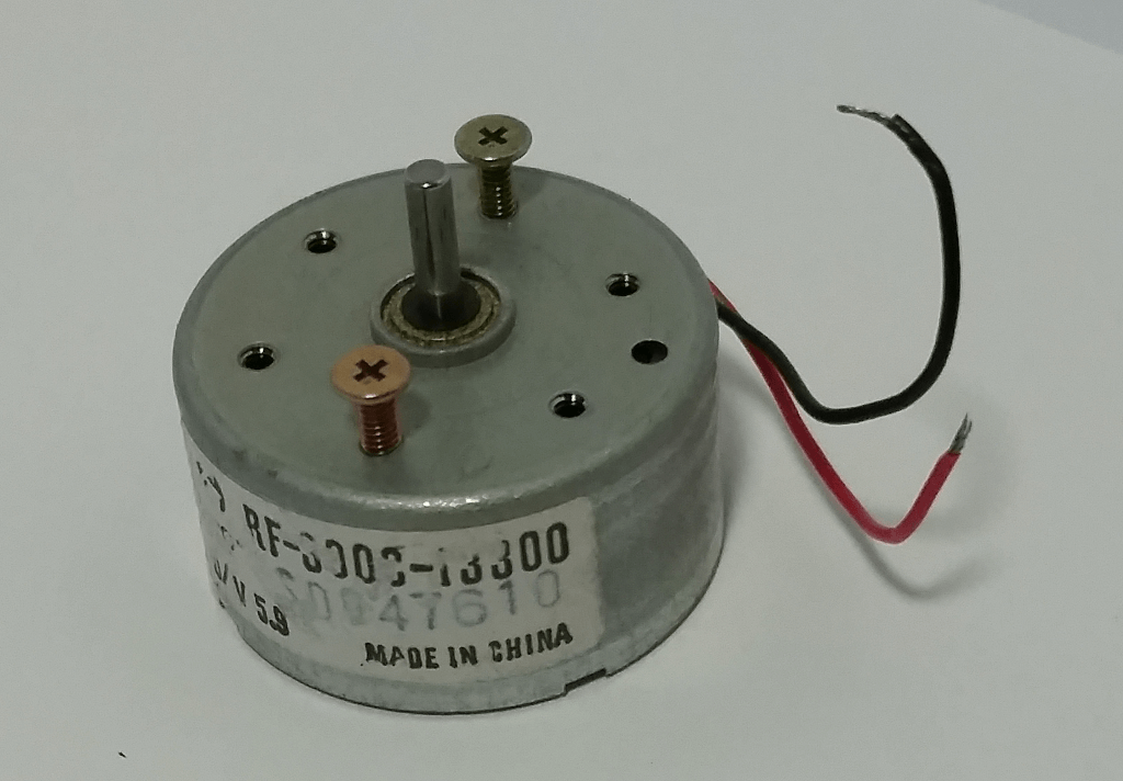 Small recycled DC motor