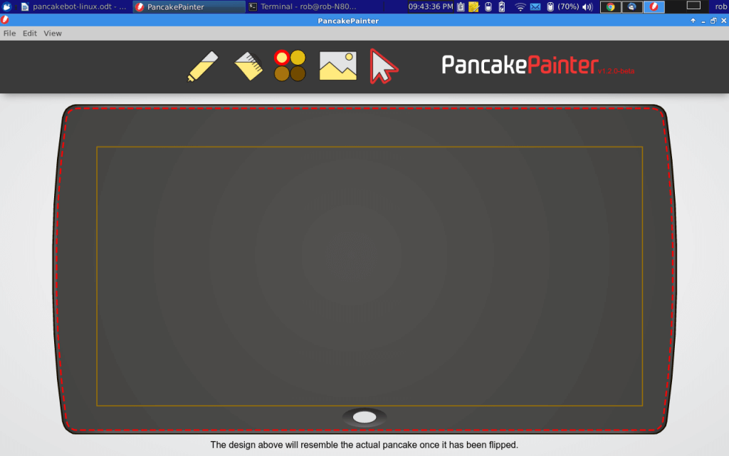 Pancake Painter Program Running Under Xubuntu Linux v.14.04