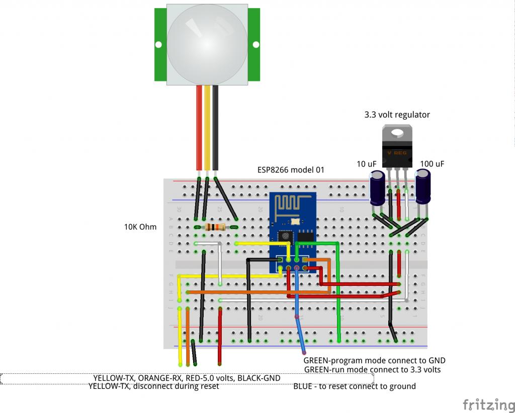 ESP8266-01 - PIR Experimenter's Board
