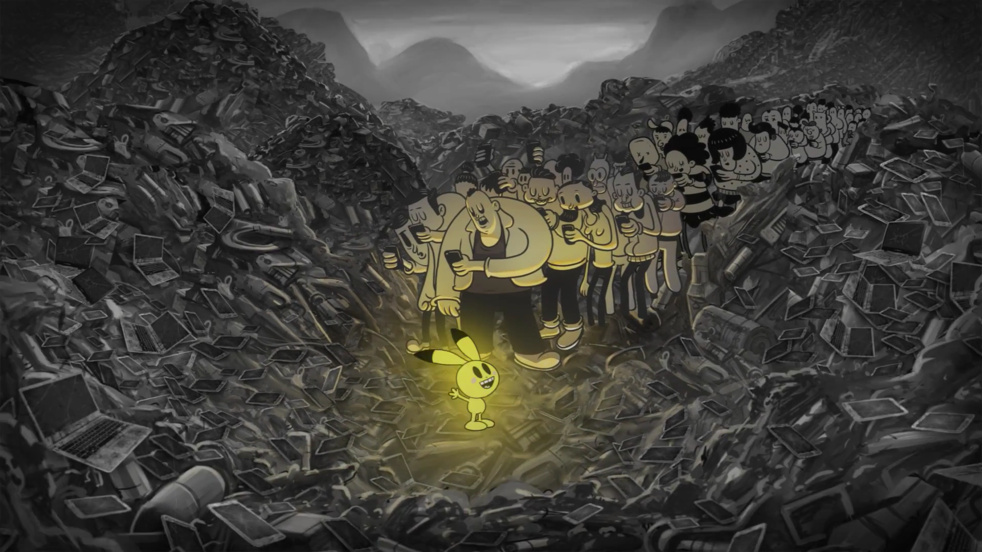 Screenshot from Moby video - Pokemon Go - Are You Lost In The World Like M