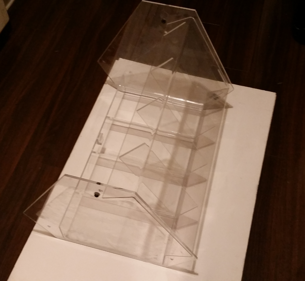 Plastic Display Stand - Recyclable Top And Bottom Pieces