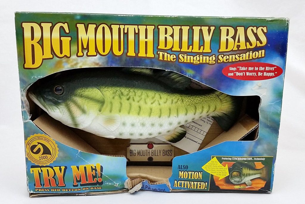 A singing fish points the way to the future of user for Talking bass fish