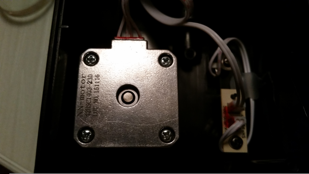 Stepper Motor For The Long Axis