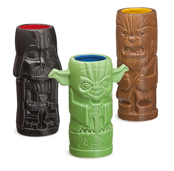 Geeky Tiki set of Star Wars drinking glasses